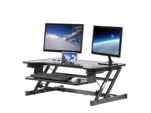 """Standing Desk Height Adjustable Riser Stand Up Desk for Laptop Computer Office sit-Stand Stand-up 36"""" Tabletop Workstation with Keyboard"""