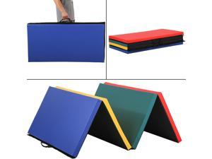 "BestMassage 4'x8'x2"" Folding Panel Gymnastic Mat Gym Exercise Yoga Mat Pad R4CM"