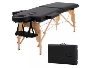 Massage Table Massage Bed Spa Bed 73? Long Portable 2 folding W/ Carry Case