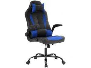 Groovy Ergonomic Office Chair Cheap Desk Chair Pc Gaming Chair Rolling Pu Leather Swivel Chair Executive Computer Chair Lumbar Support For Women Men Blue Machost Co Dining Chair Design Ideas Machostcouk