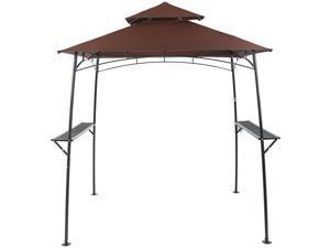 10x10' 2 Tier Gazebo Canopy Cover Top Replacement Waterproof UV30+ 200g  Outdoor - Newegg com