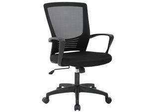 Office Chair Ergonomic Cheap Desk Chair Swivel Rolling Computer Chair Executive Lumbar Support Task Mesh chair Metal Base for Home&Office, Black