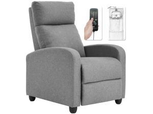 Recliner Chair for Living Room Winback Single Sofa Massage Recliner Sofa Reading Chair Home Theater Seating Modern Reclining Chair Easy Lounge with Fabric Padded Seat Backrest