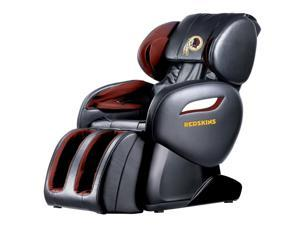 NFL Washington Redskins Electric Full Body Shiatsu Massage Chair Foot Roller Zero Gravity w/Heat