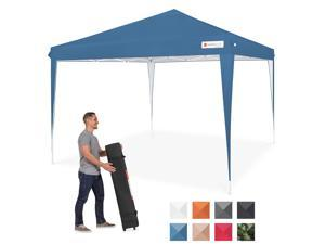 Best Choice Products Outdoor Portable Adjustable Instant Pop Up Gazebo Canopy Tent w/ Carrying Bag, 10x10ft - Blue
