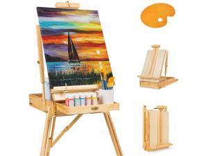 Best Choice Products Portable Wooden Folding French Easel Adjustable Sketch Box Tripod w/ Drawer, Pallet, Handle