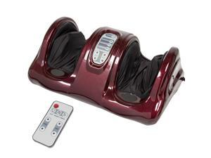 Best Choice Products Therapeutic Kneading & Rolling Shiatsu Foot Massager w/ High Intensity Rollers, Remote - Burgundy