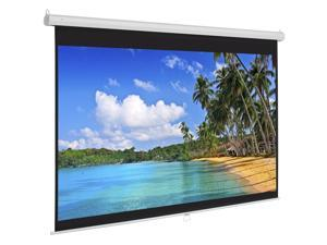 Best Choice Products 119in HD Indoor Pull Down Manual Widescreen Projector Screen for Home Theater, Office - White