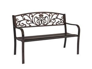 e13099f1c034 Best Choice Products 50in Outdoor Patio Garden Bench Park Yard Furniture  Porch Chair w/ Steel