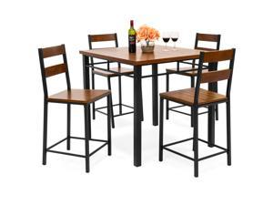 Incredible Best Choice Products 6 Piece 55In Modern Home Dining Set W Storage Racks Rectangular Table Bench 4 Chairs Brown Onthecornerstone Fun Painted Chair Ideas Images Onthecornerstoneorg