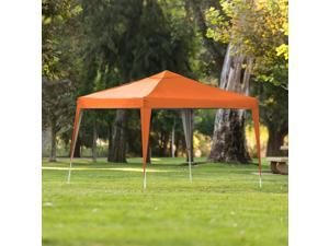 Best Choice Products Outdoor Portable Adjustable Instant Pop Up Gazebo Canopy Tent w/ Carrying Bag, 10x10ft - Orange