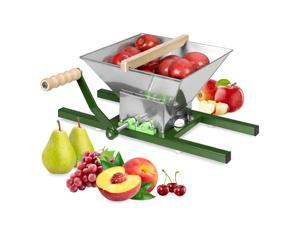 Best Choice Products 7L Stainless Steel Manual Fruit Crusher Juicer Press Accessory Equipment w/ Side Supports, Handle