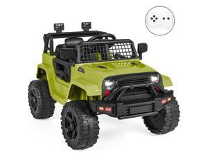Best Choice Products 12V Kids Ride On Truck Car w/ Parent Remote Control, Spring Suspension, LED Lights - Green