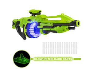 Best Choice Products Electric Foam Dart Alien Blaster Toy w/ 40 Glow-in-the-Dark Darts, Drum Mag, 45ft Range