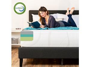 Best Choice Products 12in King Size 3-Layer Medium-Plush Bamboo Charcoal Gel & Green Tea Infused Memory Foam Mattress