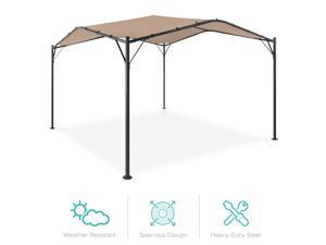 Best Choice Products 12x12ft Gazebo Canopy for Patio, Backyard w/ Weighted Bags, Weather-Resistant, Easy Assembly - Tan