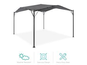 Best Choice Products 12x12ft Gazebo Canopy for Patio, Backyard w/ Weighted Bags, Weather-Resistant, Easy Assembly - Gray