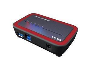 SEDNA - 4 Port USB 3.0 Hub with AC/DC Adapter ( SE-USB3-HUB-304A), Red Color