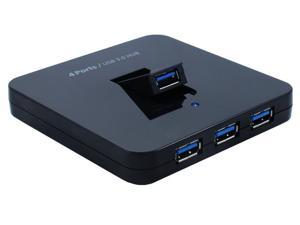 Sedna SE-USB3-HUB-34A-BK 4-Port USB 3.0 Hub Including 1 Foldable Port