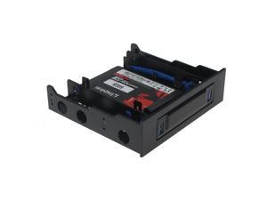 """SEDNA - Floppy bay Mounting Adapter for 2 x 2.5"""" HDD / SSD with 2 USB 3.0 Port ( with 5.25"""" mounting kit   included )"""