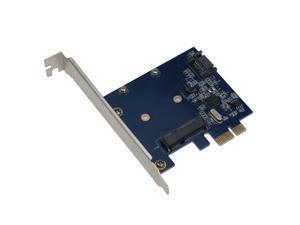 SEDNA PCI Express mSATA III (6G) SSD Adapter with 1 SATA III port