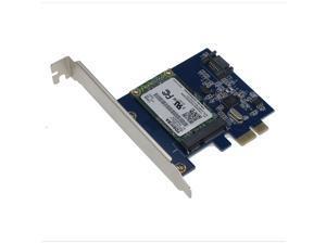 SEDNA - PCI Express mSATA III (6G) SSD Adapter with 1 SATA III port & Hybri Disk Software and 128G Toshiba mSATA SSD