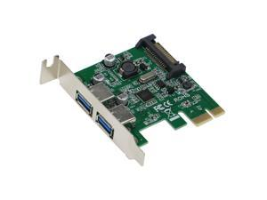 SEDNA - PCI Express 2 Port USB 3.0 Adapter - Low Profile - ( NEC / Renesas uPD720202 chipset ) - SATA Power connector ( With Power module, optional to plug in the SATA Power connector )