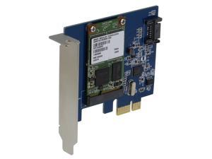 SEDNA - SEDNA - PCI Express mSATA III (6G) SSD Adapter with 1 SATA III port with Low Profile bracket & Hybri Disk Software for HDD Acceleration
