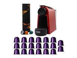 Nespresso Essenza Mini Original Espresso Machine (Red) with 20 Coffee Capsules