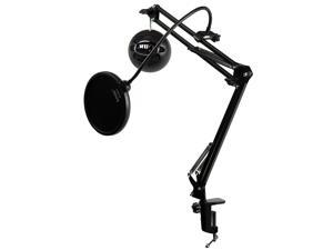 Blue Microphones Snowball iCE Microphone (Black) with Boom Scissor Arm and Pop Filter