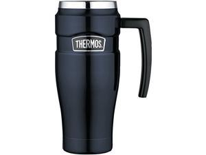 Thermos Stainless King 16 Ounce Travel Mug with Handle (Midnight Blue)