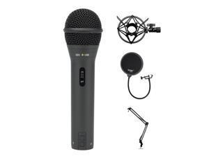 Samson Handheld USB Microphone w/ Knox Gear Boom Arm, Shock Mount, & Pop Filter