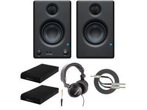 Presonus Eris-E3.5 Monitor with Knox Gear Isolation Pads and Studio Headphone