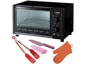 Zojirushi ET-WMC22 Toaster Oven with Tongs, Knife and Oven Mitt Bundle