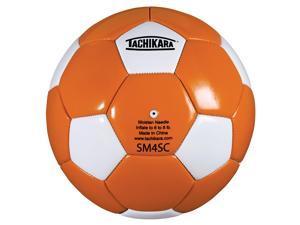 Tachikara SM4SC.ORW Man-Made Leather Soccer Ball - Size 4 - Orange-White