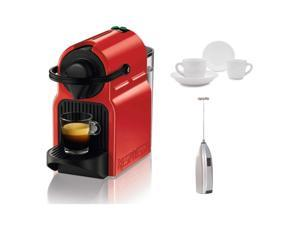 Breville Inissia Espresso Machine (Red) with Frother and Espresso Cups