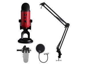 Blue Microphone Yeti USB Microphone with Knox Shock Mount, Stand and Pop Filter