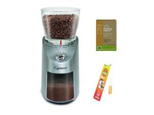 Capresso 575.05 Infinity Plus Conical Burr Grinder (Stainless Steel) Bundle