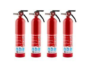 First Alert Home Fire Extinguisher (4 Pack), Rated 1-A 10-B C, Model HOME1