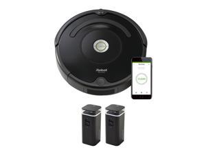 iRobot Roomba 675 Wi-Fi Connected Robotic Vacuum Cleaner Bundle with Two iRobot