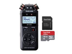 Tascam Stereo Recorder & USB Interface w/ SanDisk 16GB Memory Card + SD Adapter