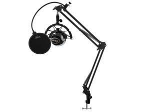 Blue Microphones Snowball Mic w/ Knox Boom Scissor Arm, Shock Mount & Pop Filter