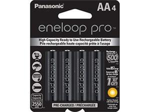 PANASONIC SPKBK3HCCA4BAB Panasonic BK-3HCCA4BA eneloop pro AA High Capacity New Ni-MH Pre-Charged Rechargeable Batteries 4 Pack
