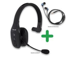 f8452a61ae8 BlueParrott B450-XT with Wired Ear Buds Advance Noise-Canceling Microphone  Headset