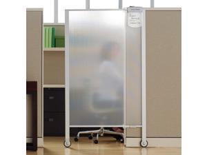 Quartet Premium Workstation Privacy Screen 38w x 64d Translucent Clear/Silver