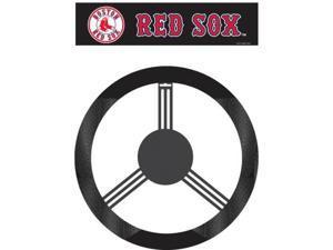 Fremont Die Inc Boston Red Sox Poly-Suede Steering Wheel Cover Wheel Cover