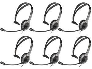 Panasonic KX-TCA430 Over The Head Headset With Noise-Cancelling Feature(6 Pack)