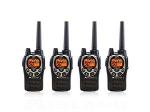 Midland GXT1000VP4, 50 Channel GMRS Two Way Radio (4 Pack)