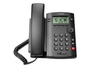 Polycom 2200-40250-025 VVX 101 Business Media Corded VoIP Phone W/ Two 10/100 Ethernet Ports