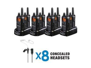 Midland LXT600BBX4 FRS Business Bundle - 36 Radio Channels - FRS - Silent Operation, Hands-free (8-Pack)
